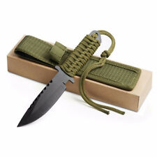 "7.5"" Camping Knives Survival Knife Hunting Knife with Nylon Sheath Fixed Blade"
