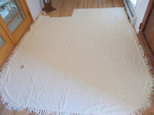 """Cutter Vintage Light Yellow Tufted Chenille Bedspread fabric Cotton 85""""x86"""""""