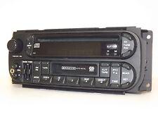 2002-06 Dodge Jeep Chrysler AMFM CD Cassette Aux mp3 Input Radio P05091605AC RAZ