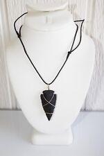 One Black Jasper Arrow Head Necklace FromTombstone Arizona USA Made