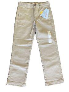 NEW Cat And Jack School Uniform Pants Khaki Boys Size 8 Straight Adjustable