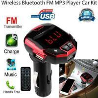 LCD Wireless Bluetooth FM Transmitter Modulator USB MP3 Card Car Player TF P5G1