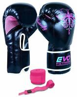EVO Ladies Kick Boxing Gloves MMA Muay Thai Women Training Sparring UFC Girls