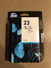 Genuine NEW HP 23 Tri-Color Ink Cartridge Sealed Box DeskJet OfficeJet