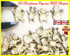 50 Christmas Figures Wooden Shapes Craft Scrapbooking MDF Cut Wood Card making
