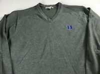 Duke Blue Devils Sweater Mens L/XL Student Alumni Long Sleeve Pullover V-Neck