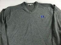 Duke Blue Devils Sweater Mens L/XL Student Alumni Long Sleeve Pullover V-Neck