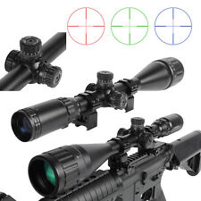 Outdoor Optics 6-24x50AOL Mil-dot Rifle Scope Multicoated Sight w/ Mounts HOT