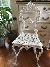 Shabby VINTAGE CHIC SCROLLY IRON CHIPPY CHAIR~French provincial~Paris