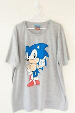 Sega Sonic The Hedgehog T.Shirt Mens Size 2XL Grey Graphic Print