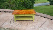 "AMISH MADEPA DUTCH RECLAIMED BARN WOOD 48"" coffee table UNFINISHED & HAND BUILT"