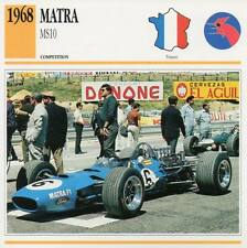 1968 MATRA MS10 Racing Classic Car Photo/Info Maxi Card