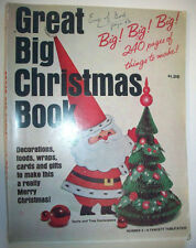 Vintage 1965 Great Big Christmas Book craft magazine decor ornaments food
