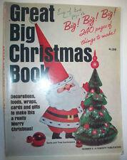 Vintage 1965 Great Big Christmas Book craft magazine decor ornaments food