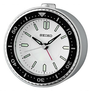Seiko Alarm Clock Quartz Quiet Output Silver QHE184J