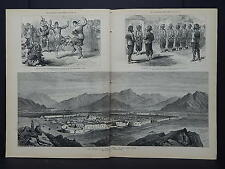 Illustrated London News Double-Page S6#20 Jan 1879 Fort at Dakka on Cabul River