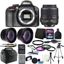 Nikon D3400 24MP Digital SLR Camera + 18-55mm Lens + 16GB Top Bundle