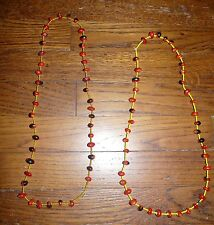 TWO URARINA PERU AMAZON INDIAN BEAD AND SEED NECKLACES