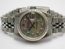 ROLEX 69610 STEEL DATEJUST DIAMOND MOTHER OF PEARL DIAL AUTOMATIC LADIES WATCH