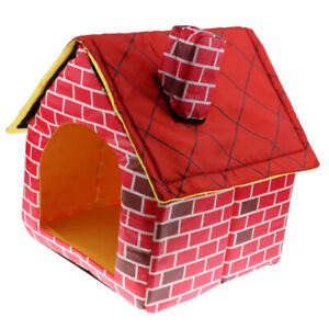 Indoor / Outdoor Cotton Dog House Shelter Removable House Cave Dog
