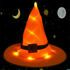 Adult Witch Orange Hat Halloween Costume Head-wear Cosplay Party Props