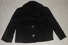 Tailored Glenhaven Lined Womens Jacket Oversized Buttons M L Vintage Ladies Coat