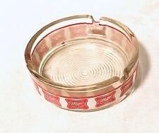 Vintage Miller High Life Beer Glass Ashtray Round Banded