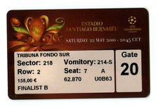 2010 -- INTER MILANO - BAYERN MONACO -- CHAMPIONS LEAGUE FINAL Madrid Biglietto