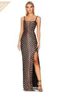 Nookie Zahara Gown - Black/Bronze - RRP $369- Size Small (AU 8) WORN ONCE