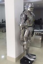 FULL GOTHIC FUNCTIONAL PLATE KNIGHT SUIT OF ARMOR, WEARABLE HALLOWEEN COSTUME