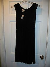 NWT Talbots Black Special Occassion Size 8 Knee Length Sleeveless Stretch