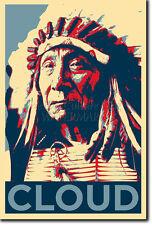RED CLOUD ART PHOTO PRINT (OBAMA HOPE PARODY) POSTER NATIVE AMERICAN INDIAN