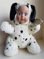 Baby Face Collection Dalmatian Plush Stuffed Baby Doll By Toy Works