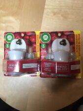 Air Wick Warm Apple Crumble 2 Plug-In Scented Oil Warmers 4 Refills 0.67 fl oz