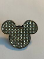 Disney Mickey Head Icon Clear Diamond Cubes Disney Pin (B3)