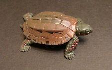 Rare Retired Colorata (like Kaiyodo) Ryukyu Leaf Pond Turtle Figure