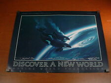 """Signed Art Poster NO BOUNDARIES by GEORGE SUMNER 32""""x24"""" Killer Whales ORCA"""
