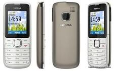 New Condition Nokia C1-01 Grey Unlocked Camera Bluetooth Mobile Phone with box