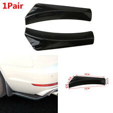2X ABS Glossy Black Lip Diffuser Splitter Canard Protector For Car Rear Bumper