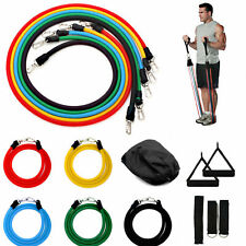 NEW RESISTANCE BANDS WORKOUT EXERCISE YOGA 11 PIECE SET CROSSFIT FITNESS TUBES