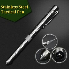 Self Defense Tactical Pen Steel Glass Breaker With Survival Knife & Compass