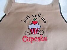"""""""Just Call Me Cupcake"""" Baking Apron - Cooking with Personalized Name for Cooks y"""