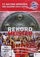 DOPPEL-DVD NEU/OVP - FC Bayern München - Die Saison 2014/2015 - Rekordmeister