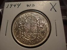 1944 Wide Date  Canada Silver 50 cent - lightly circulated Canadian half dollar