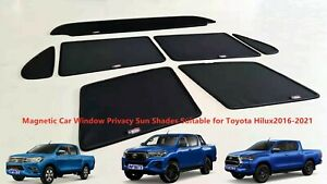 Magnetic Privacy Sun Shade suitable for TOYOTA HILUX 2016-2021 Dual Cab Only
