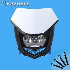 blanc Halo H4 Phare avant moto enduro Phare Lampe pour Husqvarna WR 125