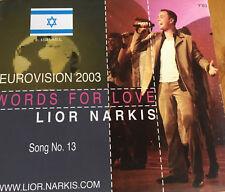 PROMOTIONAL CD EUROVISION 2003 ISRAEL LIOR NARKIS WORDS FOR LOVE
