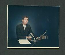 Vintage 1950s Color Photo TV Television News Anchor Man Arkansas 413033
