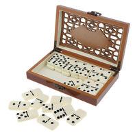 Pädagogisches Domino Spiel Kartenspiel Legespiel für Holzkiste und28Dominosteine