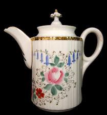 Antike Andenken Porzellan Kaffeekanne C.T. Altwasser Tielsch Zum Hochzeitsfeste
